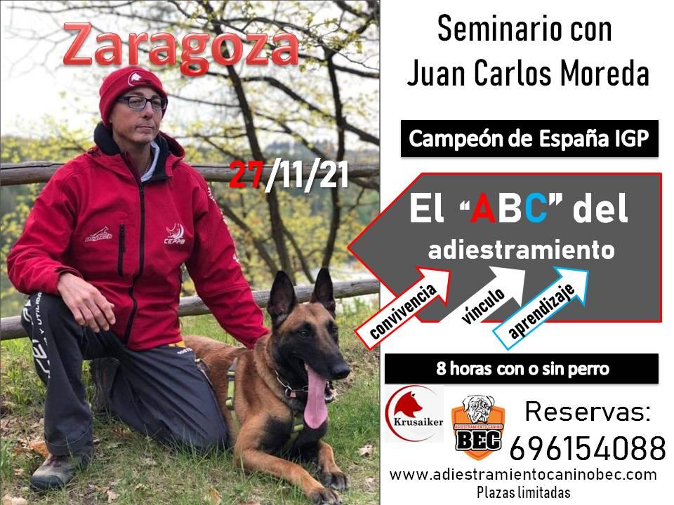 Cartel seminario Juan Carlos Moreda BEC
